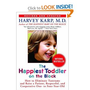 I recommend  Dr Harvey's very practical book as one of your best partners through the toddler years.