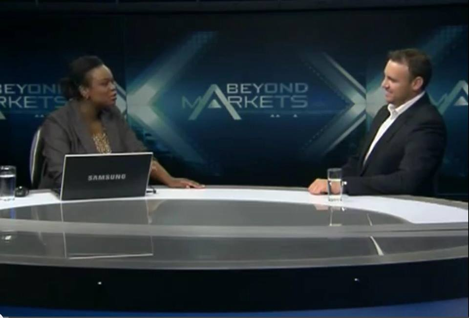 Me interviewing my friend and Serial Entrepreneur Denis Fourie during my stint at CNBC Africa