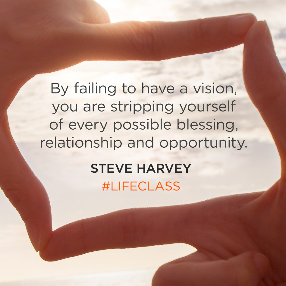 By failing to have a vision