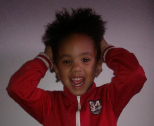 My Son sporting his incredible fro