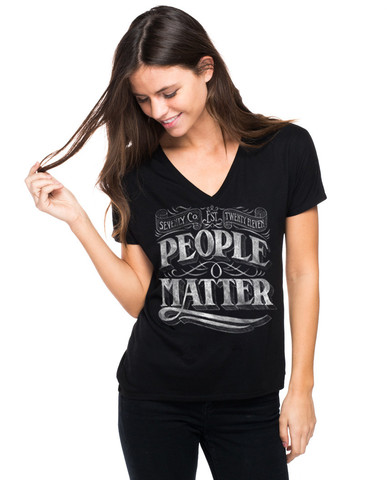 Sevenly people matter black tshirt