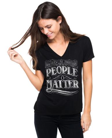 Sevenly people matter black tshirt