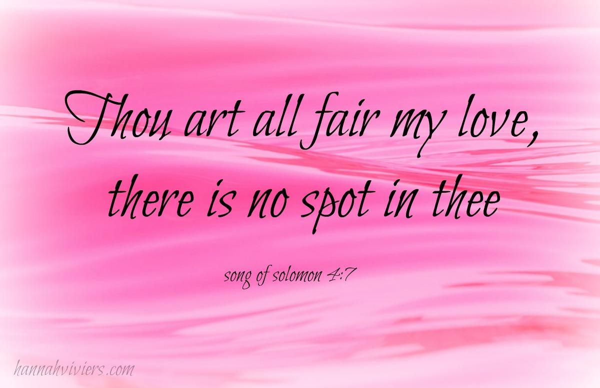 Thou art all fair my love The beautiful series website
